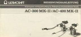 Ultracraft AC-300 MK II / AC-400 MK II Bedienungsanleitung
