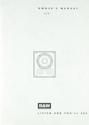 B & W AS 6 Bedienungsanleitung