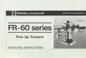 Fidelity Research FR-60 Bedienungsanleitung