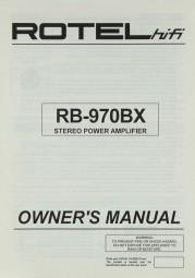 Rotel RB-970 BX Bedienungsanleitung