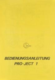 Pro-Ject 1 Bedienungsanleitung
