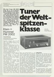 K + H FM 2002 Testnachdruck
