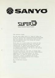 "Sanyo Plus N 55 ""Super-D"" Bedienungsanleitung"