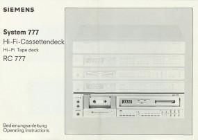 Siemens RC 777 Bedienungsanleitung