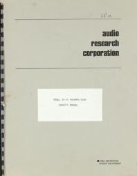 Audio Research SP-12 Bedienungsanleitung