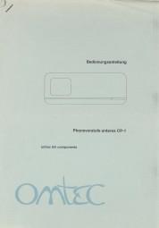 Omtec CP-1 Bedienungsanleitung