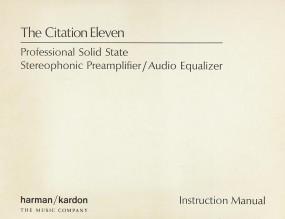 Harman / Kardon Citation Eleven Bedienungsanleitung