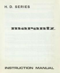 Marantz HD 345 / HD 445 / HD 545 Bedienungsanleitung