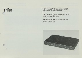 Braun A 501 Bedienungsanleitung