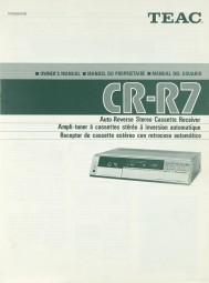 Teac CR-R 7 Bedienungsanleitung