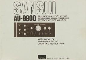 Sansui AU-9900 Bedienungsanleitung