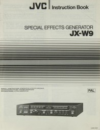 JVC JX-W 9 Bedienungsanleitung