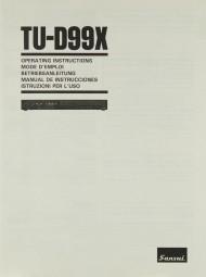 Sansui TU-D 99 X Bedienungsanleitung