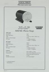 Musical Fidelity X-LP Prospekt / Katalog