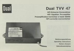 Dual TVV 47 Bedienungsanleitung