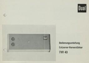 Dual TVV 43 Bedienungsanleitung