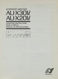 Sansui AU-X 30 li / AU-X 20 li Bedienungsanleitung
