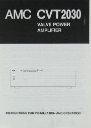 AMC CVT 2030 Bedienungsanleitung