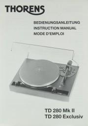Thorens TD 280 MK II / TD 280 Exclusiv Bedienungsanleitung