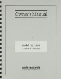 Audio Research LS 3 / LS 3-B Bedienungsanleitung