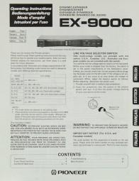Pioneer EX-9000 Bedienungsanleitung