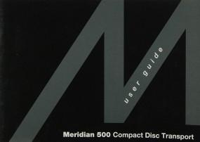 Meridian 500 Bedienungsanleitung