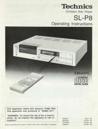 Technics SL-P 8 Bedienungsanleitung