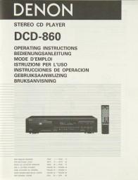 Denon DCD-860 Bedienungsanleitung