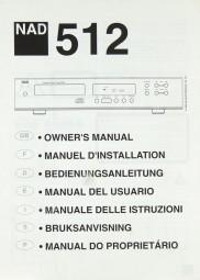 NAD 512 Bedienungsanleitung