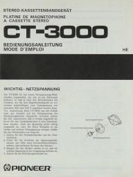Pioneer CT-3000 Bedienungsanleitung