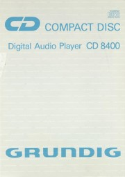 Grundig CD 8400 Bedienungsanleitung