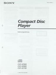 Sony CDP-XE 900 / CDP-XE 800 / CDP-XE 700 Bedienungsanleitung