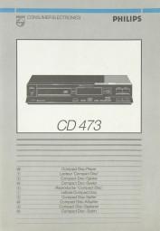 Philips CD 473 Bedienungsanleitung
