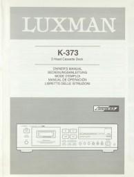 Luxman K-373 Bedienungsanleitung