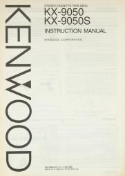 Kenwood KX-9050 / KX-9050 S Bedienungsanleitung