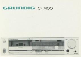 Grundig CF 7400 Bedienungsanleitung
