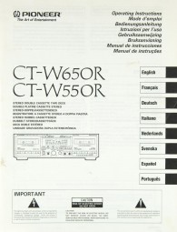 Pioneer CT-W 650 R / CT-W 550 R Bedienungsanleitung