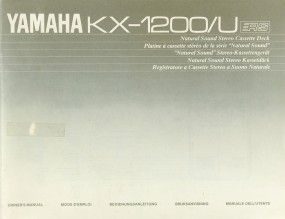 Yamaha KX-1200 / U Bedienungsanleitung