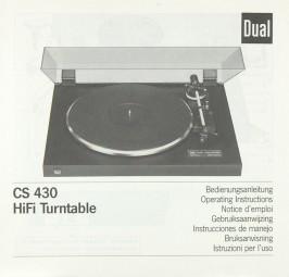 Dual CS 430 Bedienungsanleitung