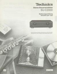 Technics SU-C 2000 Bedienungsanleitung