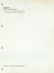 Sony TAE-8450 Bedienungsanleitung