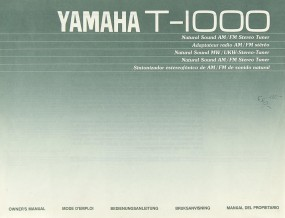 Yamaha T-1000 Bedienungsanleitung