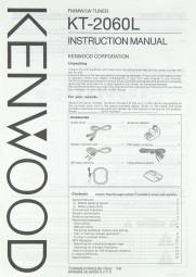 Kenwood KT-2060 L Bedienungsanleitung