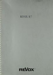 Revox H 7 Bedienungsanleitung
