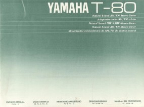 Yamaha T-80 Bedienungsanleitung