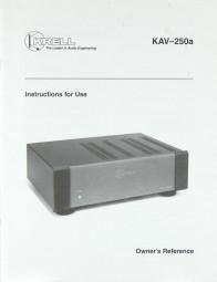 Krell KAV-250a Bedienungsanleitung