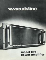 van alstine Model Two Prospekt / Katalog