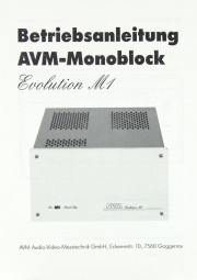 AVM Evolution M 1 Bedienungsanleitung