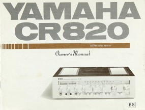 Yamaha CR 820 Bedienungsanleitung