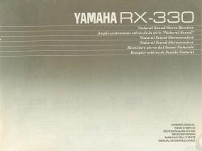 Yamaha RX-330 Bedienungsanleitung